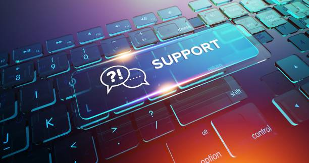 Support Button on Computer Keyboard